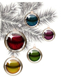 Christmas tree and transparent balls vector image