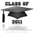 class 2011 graduation vector image vector image