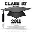 class of 2011 graduation vector image