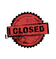 Closed stamp badges vector image vector image