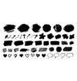 collection hand drawn forms and banners vector image