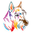 colorful decorative portrait of dog scottish vector image vector image