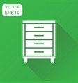 cupboard icon business concept cabinet pictogram vector image vector image