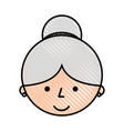 cute grandmother head avatar character vector image