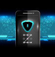 cyber security lock phone vector image vector image