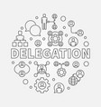 delegation round outline vector image vector image