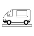 delivery van icon image vector image