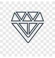 diamond concept linear icon isolated on vector image
