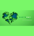 earth day paper cut earth love web template vector image vector image