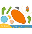 education paper game for children spaceship vector image vector image