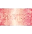 Embossed inscription spring vector image
