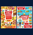 fast food burgers mexican fastfood menu price vector image vector image