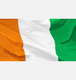 flag ivory coast vector image vector image