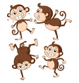 Four monkeys vector image vector image