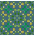Geometric pattern with green leaves vector image vector image