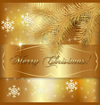 Gold Christmas Holiday Greeting Card vector image vector image