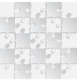 Grey Puzzles Pieces - JigSaw - 25 vector image vector image