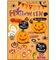 Halloween decor vector image vector image