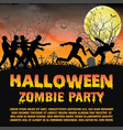 halloween zombie party with zombies escape vector image