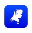 holland map icon digital blue vector image vector image