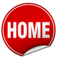 home round red sticker isolated on white vector image vector image