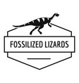 jurassic lizard logo simple black style vector image