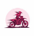 lady fast motocross vector image vector image