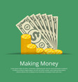 making money positive poster vector image vector image