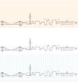 mannheim hand drawn skyline vector image vector image