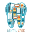Medical background design with dental equipment vector image