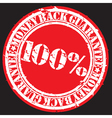 Money back guarantee 100 percent stamp vector image