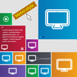 monitor icon sign buttons Modern interface website vector image