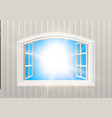open window blue sky and sun light view vector image