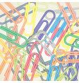 paper clip background vector image vector image