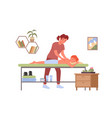 physiotherapy massage treatment medical vector image vector image