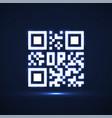 qr code neon icon glowing logo barcode vector image vector image