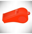 Red Plastic Whistle vector image vector image