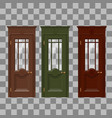 red yellow blue doors vector image