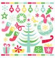 retro pop christmas set vector image vector image