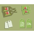 Set of organic labels - stickers for natural farm vector image vector image