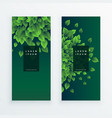 set of two nature banners background vector image vector image
