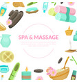 spa and massage center banner template with space vector image vector image