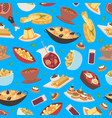spanish food seamless pattern traditional vector image vector image