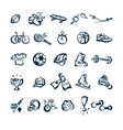 sport drawing cartoon icon vector image