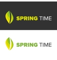 Spring time on a black backgorund vector image