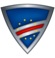 steel shield with flag cape verde vector image vector image