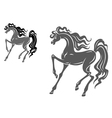 stylized horse vector image vector image