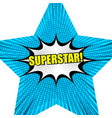 superstar comic background vector image vector image
