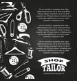 tailor shop chalkboard poster vector image vector image