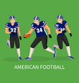 team run on stadium playing in american football vector image vector image